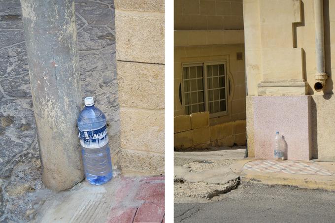 マルタ島の猫よけボトル.jpg
