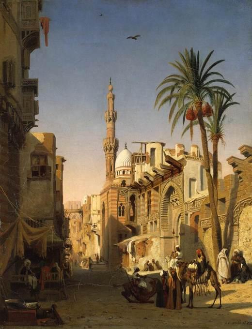 Prosper_Marilhat_-_Ezbekiyah_Street_in_Cairo_-_WGA14078.jpg